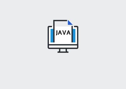 תמונה של קובץ Java בתוך מסך מחשב